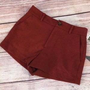 Forever 21 Woven Rust Shorts Small NWT